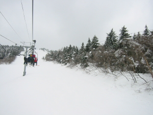 the snow and the people who ski it